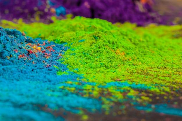 Sfondo colorato fatto di coloranti colorati indiani