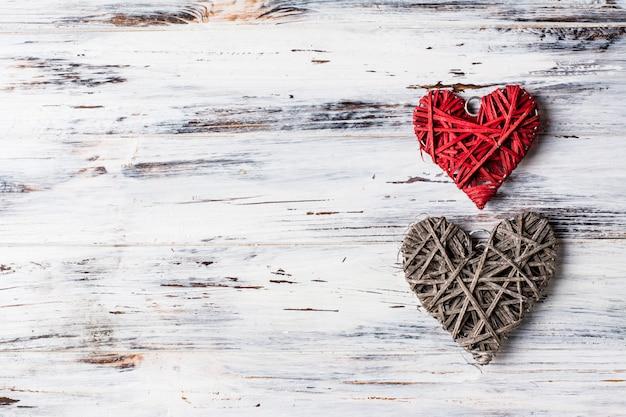 Sfondo con cuori, san valentino. san valentino. amore. foto romantica posto per il testo copia spazio