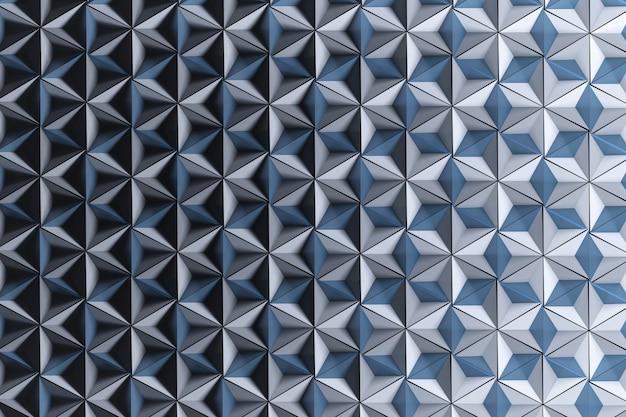 Sfondo con molte piramidi invertite a ripetizione in bianco blu
