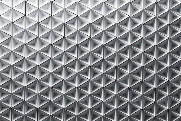 Sfondo con molte piramidi invertite a ripetizione in bianco puro