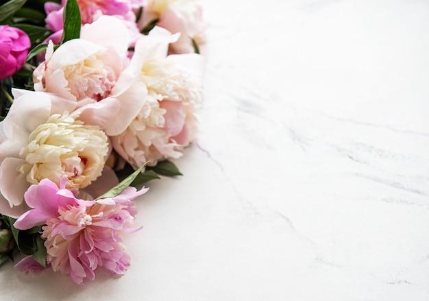 Sfondo con peonie rosa