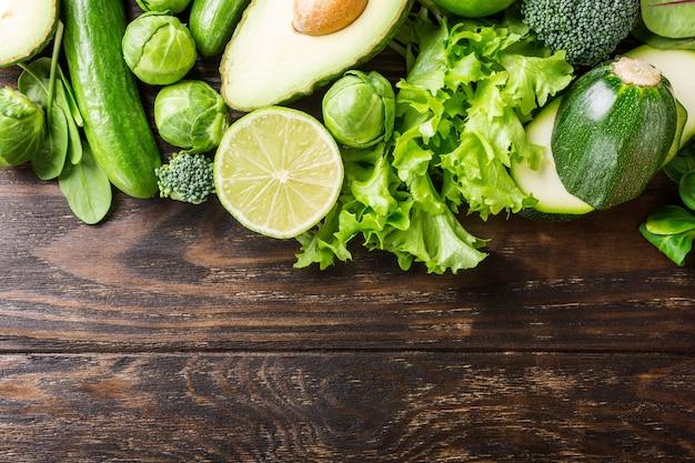 Sfondo con verdure assortite