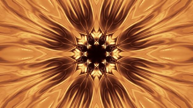Sfondo cosmico con luci laser dorate