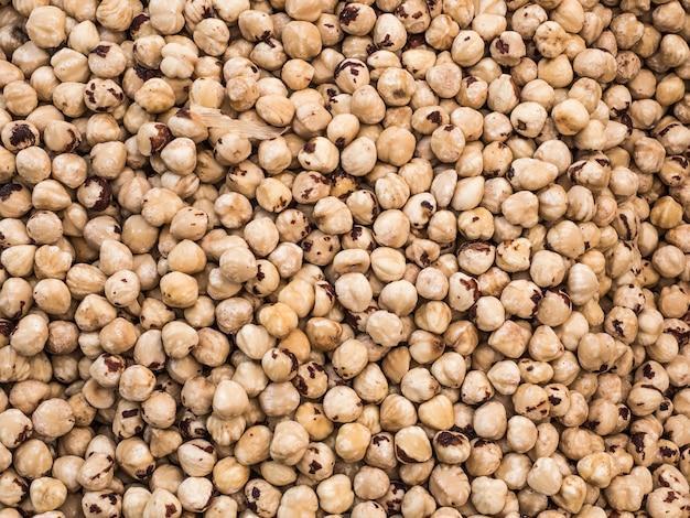 Sfondo da un kernel secco di nocciole.