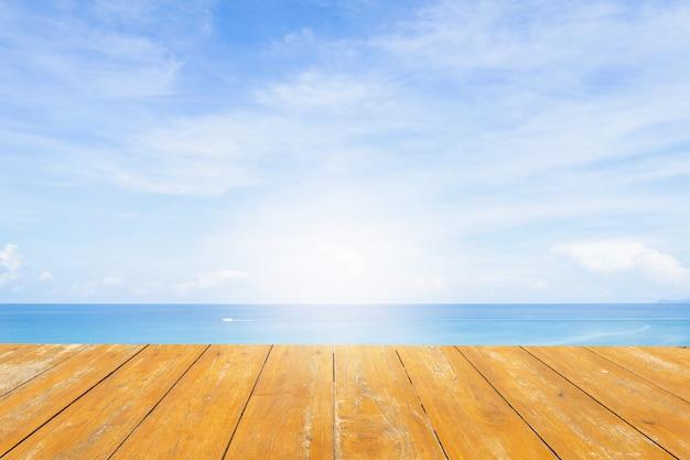 Sfondo del mare. legna