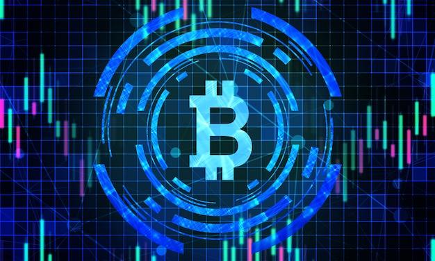 Sfondo del mercato azionario digitale