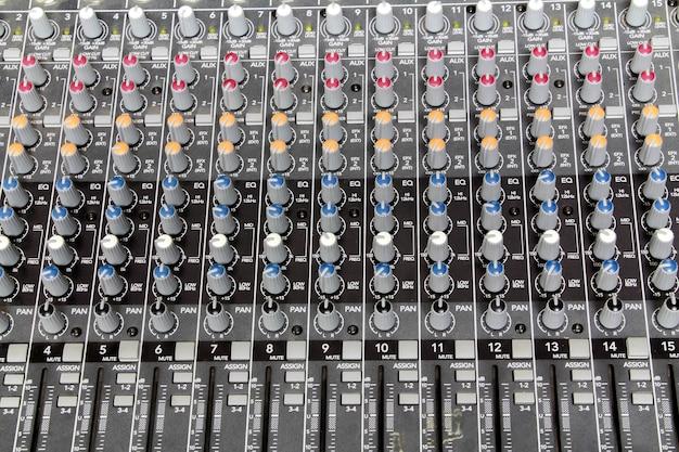 Sfondo del mixer audio.
