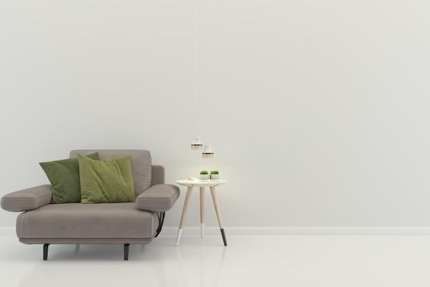 Sfondo del modello di pavimento interno casa casa soggiorno mock up design copia spazio