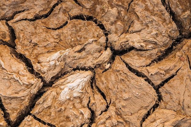 Sfondo del suolo incrinato concetto di siccità
