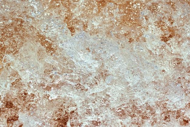 Sfondo dell'onda del mare con bolle e schiuma