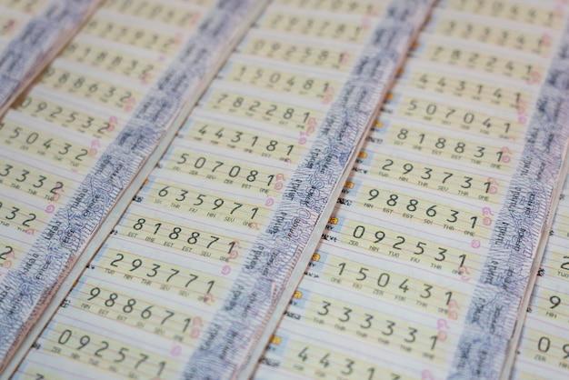 Sfondo della lotteria thailandese