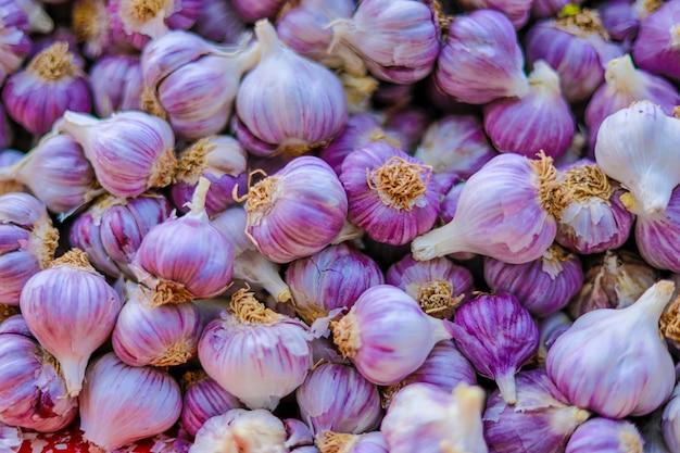 Sfondo di aglio indiano