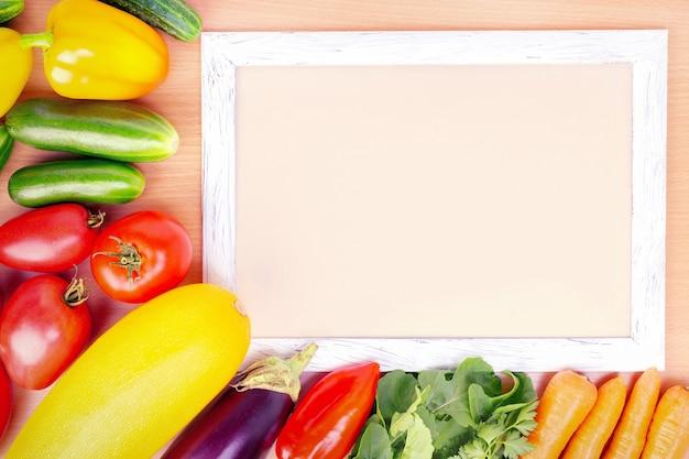 Sfondo di alimenti biologici