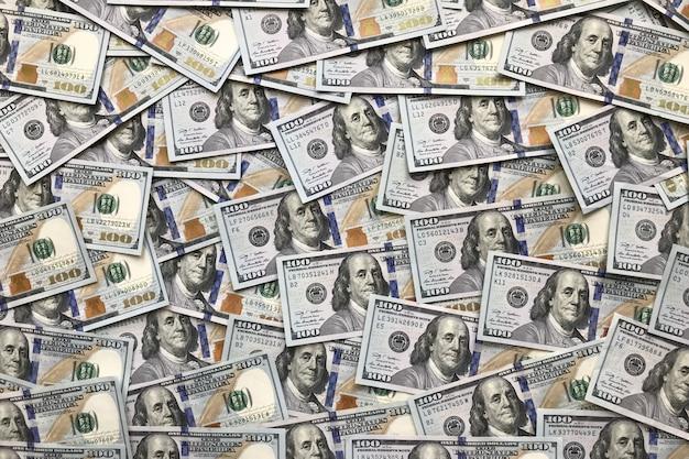 Sfondo di banconote da 100 dollari