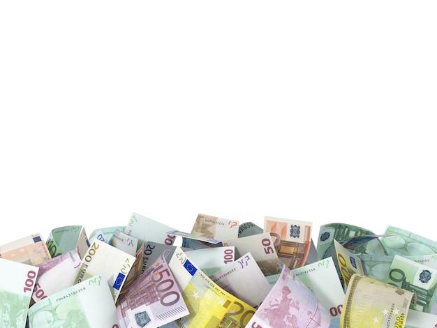 Sfondo di banconote in euro con spazio per il testo