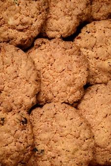 Sfondo di biscotti d'avena