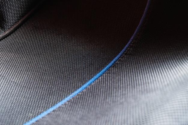 Sfondo di borsa sintetica in nero
