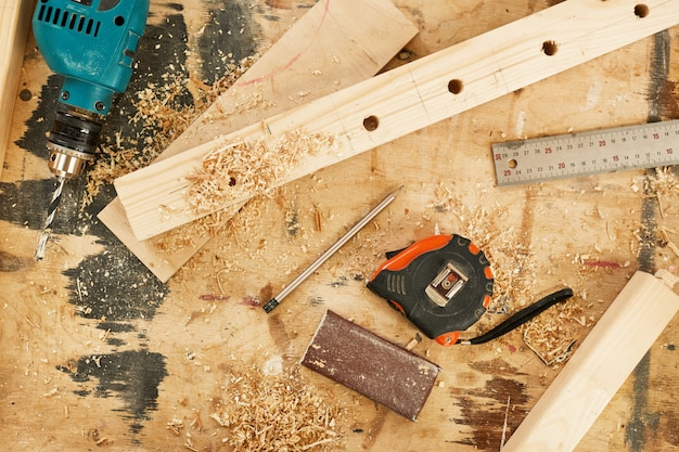 Sfondo di carpenteria
