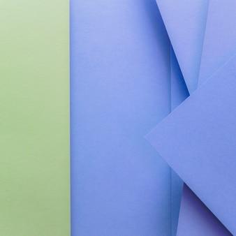 Sfondo di carta colorata di verde e blu