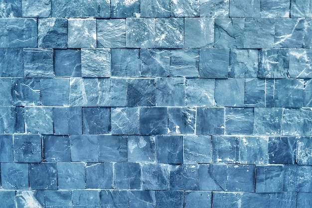 Sfondo di carta da parati di mattoni blu.