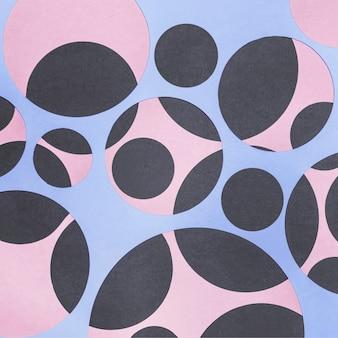 Sfondo di carta forme geometriche senza soluzione di continuità
