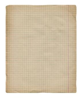 Sfondo di carta millimetrata vintage