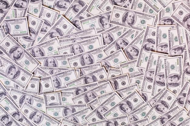 Sfondo di cento banconote da un dollaro