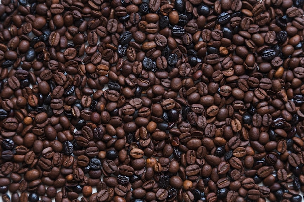 Sfondo di chicchi di caffè tostato