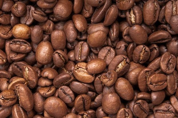 Sfondo di chicchi di caffè tostato.