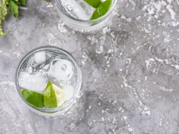 Sfondo di cibo soda limone spazio