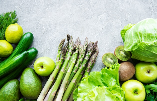 Sfondo di concetto di cibo vegetariano sano