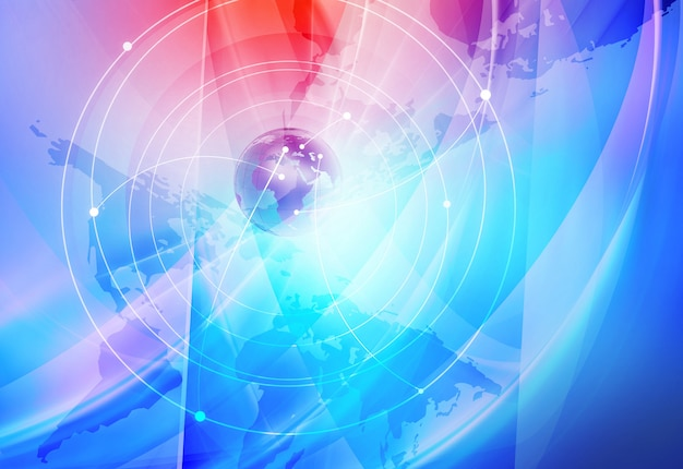 Sfondo di connessioni internet globali