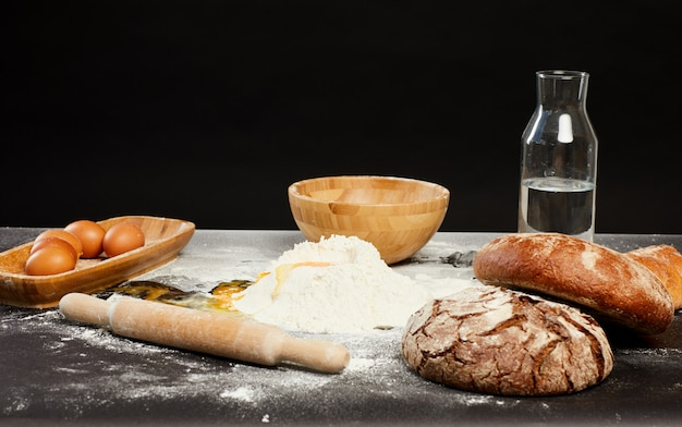 Sfondo di cottura tradizionale