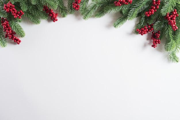 Sfondo di decorazioni natalizie