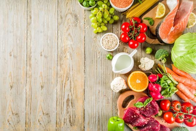 Sfondo di dieta flessibile