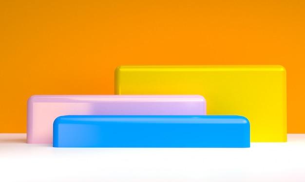 Sfondo di figure geometriche astratte minimalista