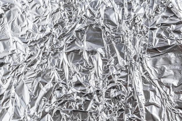 Sfondo di foglio di alluminio
