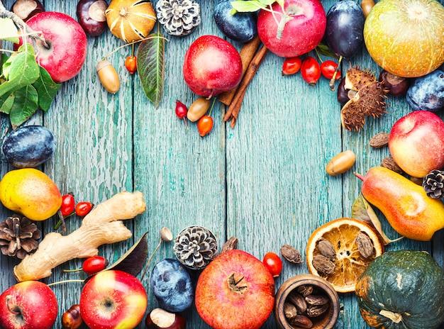 Sfondo di frutta autunnale