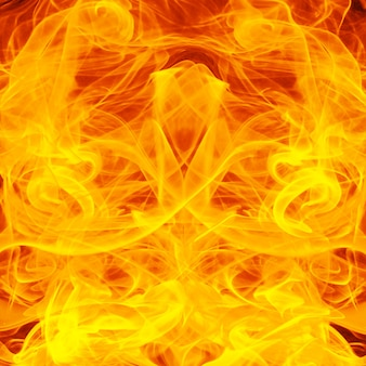 Sfondo di fuoco e fiamme