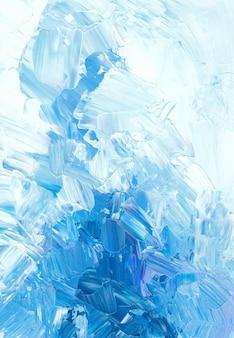 Sfondo di ghiaccio. carta da parati con texture grunge blu. arte astratta del coltello da tavolozza.