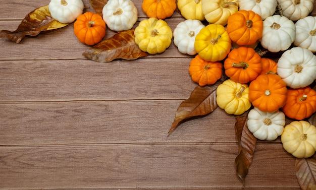 Sfondo di halloween con zucche.
