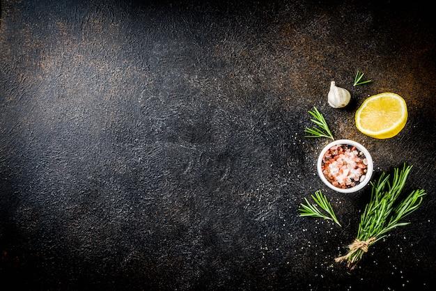 Sfondo di ingredienti alimentari di cottura