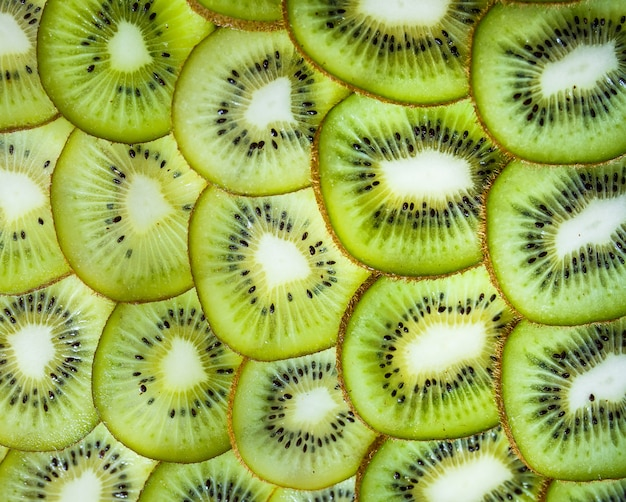 Sfondo di kiwi freschi