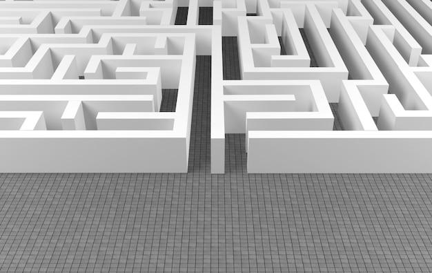 Sfondo di labirinto, complesso concetto di soluzione dei problemi
