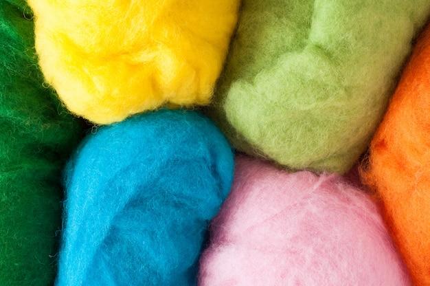 Sfondo di lana. feltro