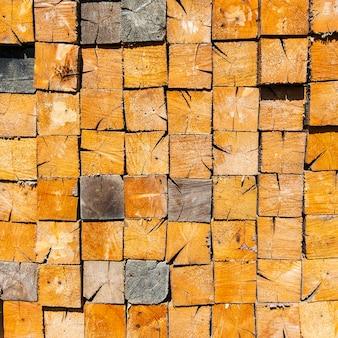 Sfondo di legno impilato taglio