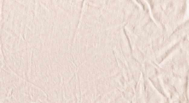 Sfondo di lino bianco naturale