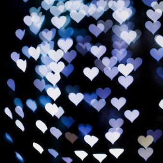 Sfondo di luci a forma di cuore