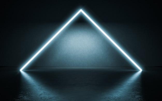 Sfondo di luci al neon. illustrazione 3d