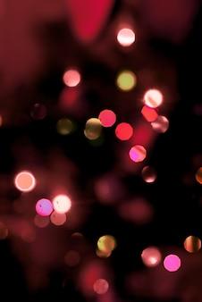 Sfondo di luci dell'albero di natale